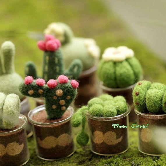 Lana Material suculento plantas Bonsai decoración por TimesGarden