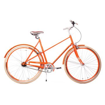 {orange Public bike} an orange retro-style bike? that's the ultimate!