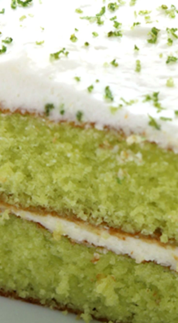 Easy Lime Cake with Cream Cheese Frosting ~ So simple and tastes amazing... Amazing and flavorful cake.