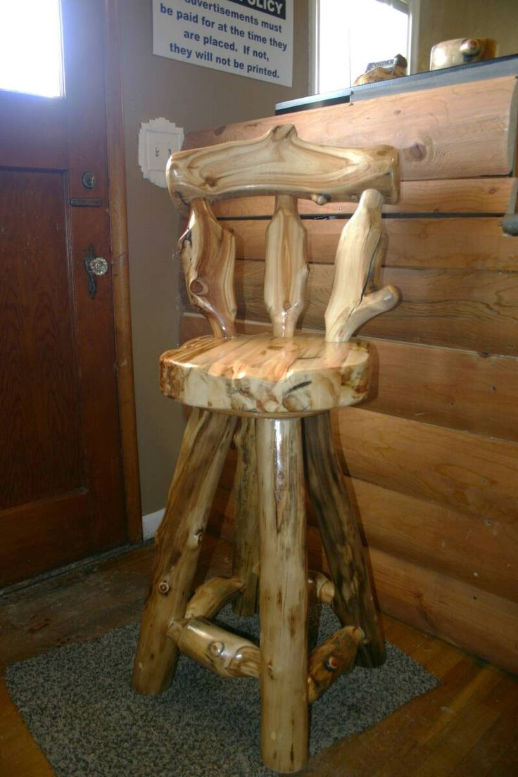 log bar stool.  Our bar stool's are full of amazing character! And so comfortable!