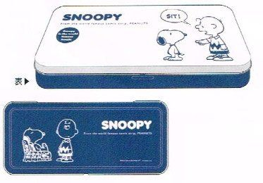 Amazon.co.jp: スヌーピー 2カラー 缶ペンケース(NV) SPS260: 文房具・オフィス用品
