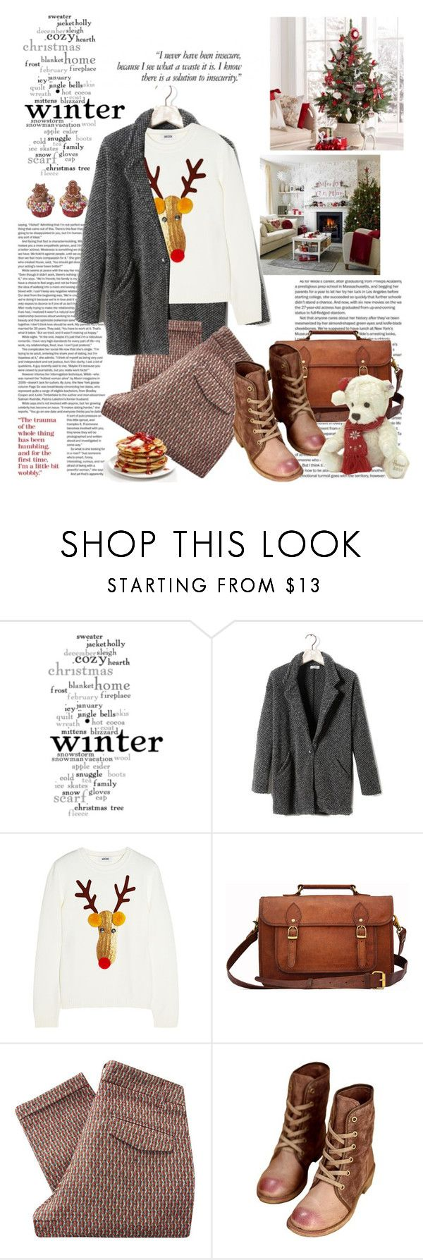 """maki"" by makistefaneli ❤ liked on Polyvore featuring WALL, Pull&Bear, Moschino, Retrò, Sessùn and Steiff"