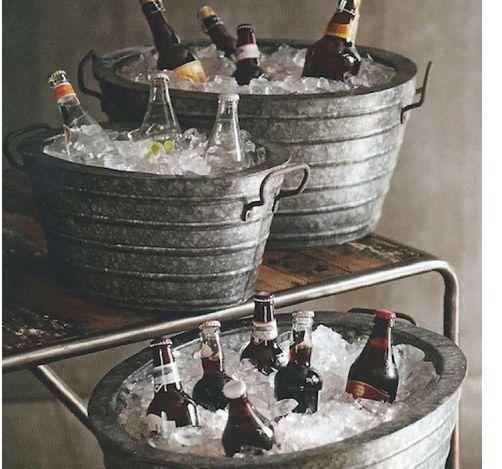 Galvanized+Metal+Oval+Beverage+Tub+3+Piece                              …