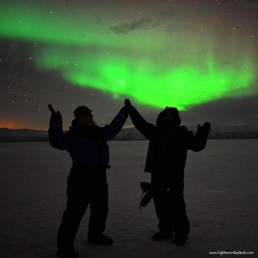 Mild but effective gusts of solar wind are buffeting Earth's magnetic field, sparking auroras around the Arctic Circle. Last night in Abisko National Park, Sweden, aurora tour guide Chad Blakley received a grand display for his clients Jan.9, 2013.