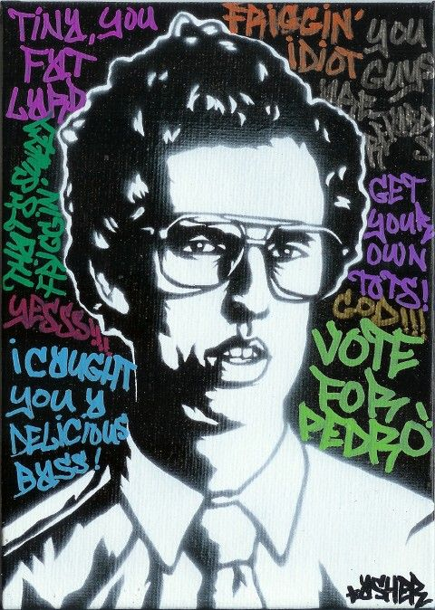 5X7 Napoleon Dynamite Jon Heder Stencil Graffiti Art by GraffRoots, $30.00