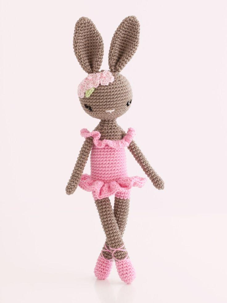 Amigurumi ballet bunny