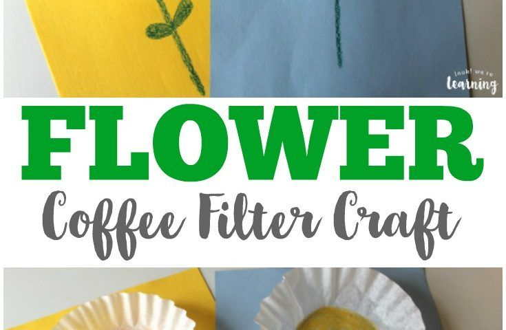 Easy Coffee Filter Flower Craft For Spring Coffee Filter Crafts