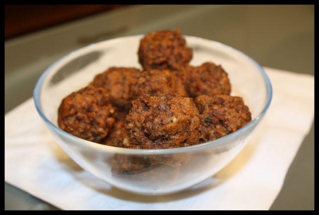 vegetarian meatballs made with Yves veggie ground round