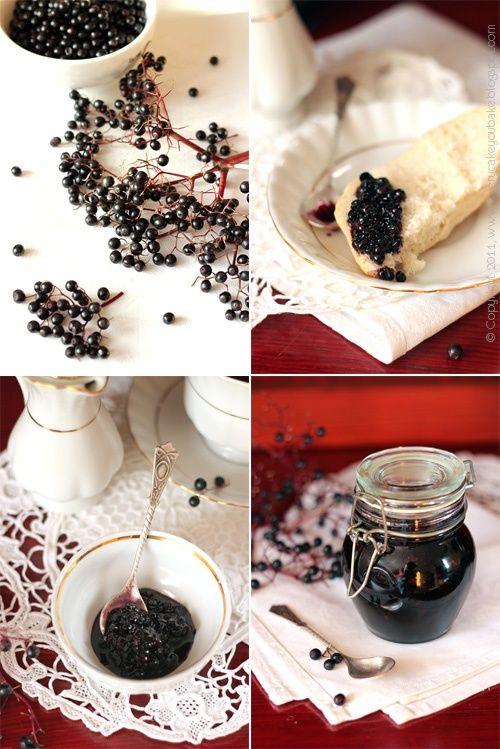 konfitura z owoców czarnego bzu