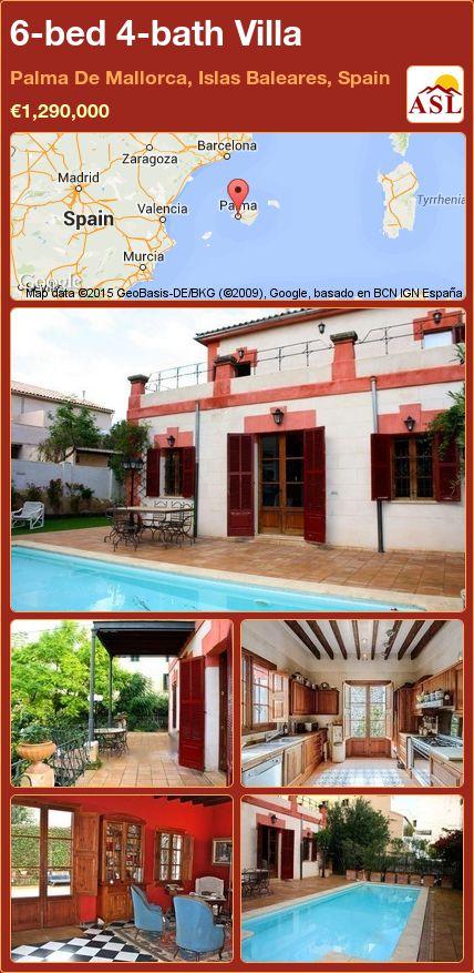 6-bed 4-bath Villa in Palma De Mallorca, Islas Baleares, Spain ►€1,290,000 #PropertyForSaleInSpain