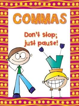 This FREE activity makes a perfect independent/small group center for students to review comma usage rules and practice adding missing commas to sentences.This product includes the following materials: Page 1 - A cover sheet to glue to the front of your center folder Page 2 - An overview of comma rules with examples as well as student instructions.