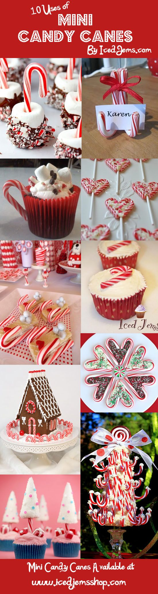 10 Ways to use Mini Candy Canes - love the place card holders