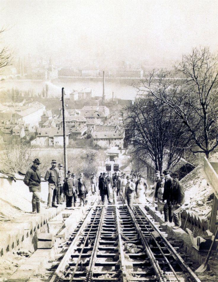 Červenec 1891, před zahájením provozu první lanovky