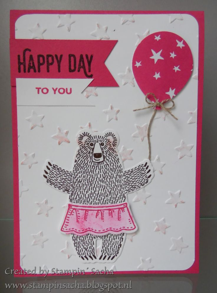Stampin' Sacha - Stampin' Up! - Occasions Catalog 2016 - Sale-A-Bration - Bear Hugs -Balloon Celebration - Perfect Pairings - birthday card