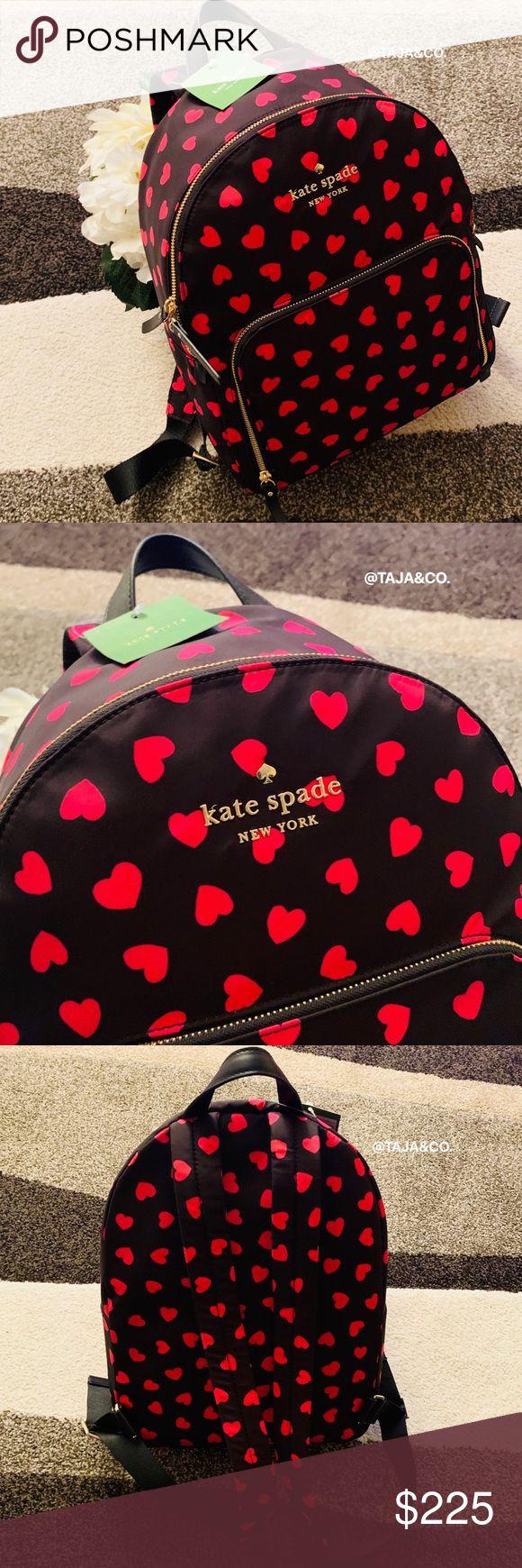 ♠ ️KATE SPADE: Watson Hearts Hartley Nylon Rucksack NWT. Wert: 228,00 $ + Versand …