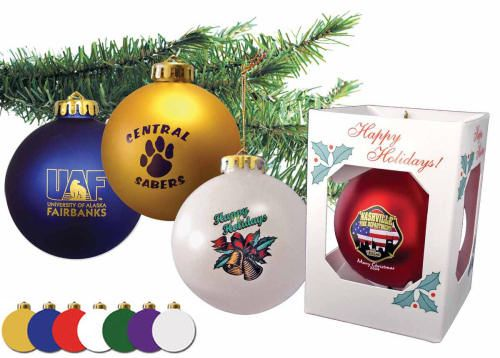 School, church fundraising ideas - $2.25 custom imprinted fundraiser ornaments - church, school, high school, sports, christian, charity, non profit.
