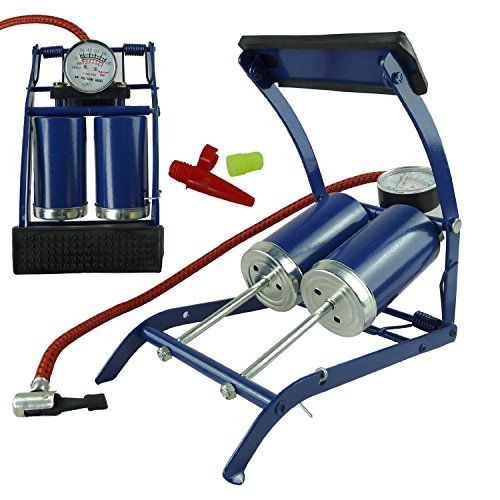 Davies Double-Cylinder Foot Pump/Air For Car Van Bicycle Bike Tyres Beds and Toys