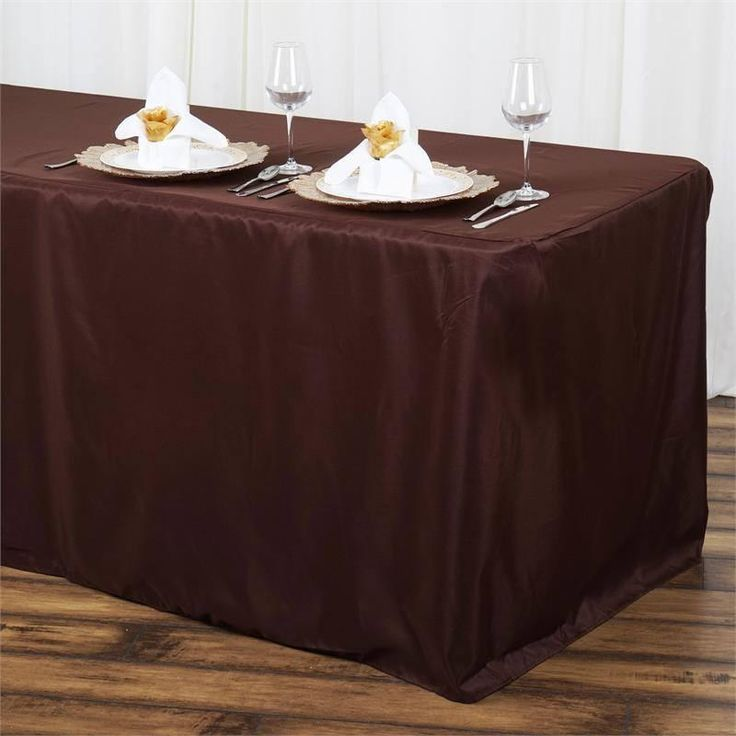 6FT Fitted CHOCOLATE Wholesale Polyester Table Cover Wedding Banquet Event Tablecloth( Sold Out )