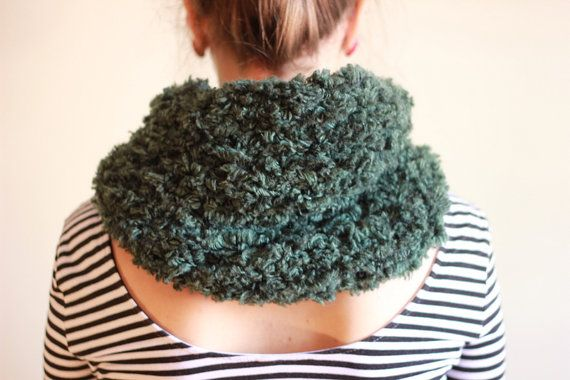 The one with the single green furry cowl by winkitywink on Etsy