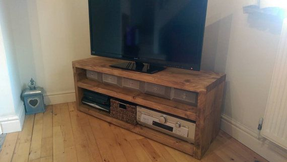 Hey, I found this really awesome Etsy listing at https://www.etsy.com/listing/195522516/rustic-plank-beam-solid-wood-tv-stand-42