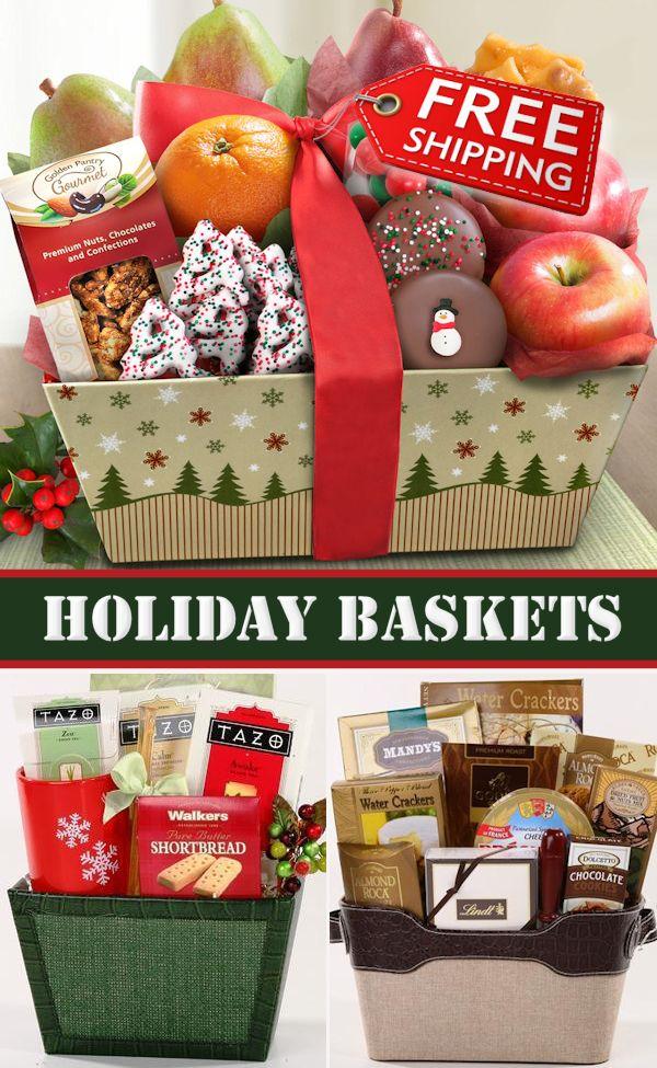 FREE Ground Shipping On Select Christmas Gift Baskets.