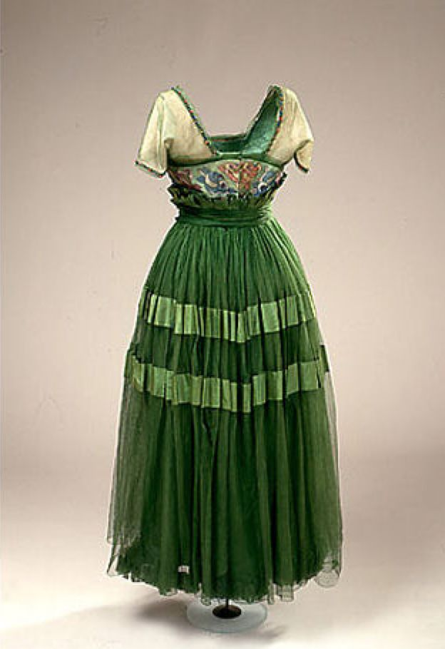 Poiret Inspired Evening Dress, ca. 1914-1916, from Harvey Nichols, London, National Museum of Denmark