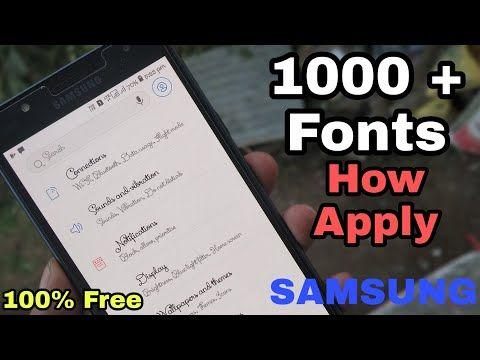 Samsung Unlimited Oreo Stylish Fonts Any Samsung Device [HINDI
