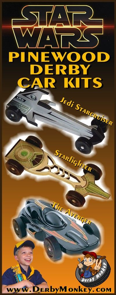Star Wars Pinewood Derby Car Kits from www.DerbyMonkey.com