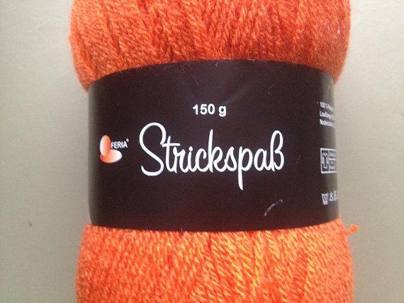 German Strickspab Yarn Orange Yarn by Madebyfate on Etsy, $12.00