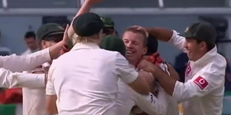 England recovered to be 4/172 at tea, before Siddle went on a rampage. Stoic opener Alistair Cook's 168-ball innings came to end when he edged Siddle to first slip, then wicketkeeper Matt Prior had his stumps rattled first ball, and Stuart Broad was trapped lbw to send the Gabba crowd into raptures.