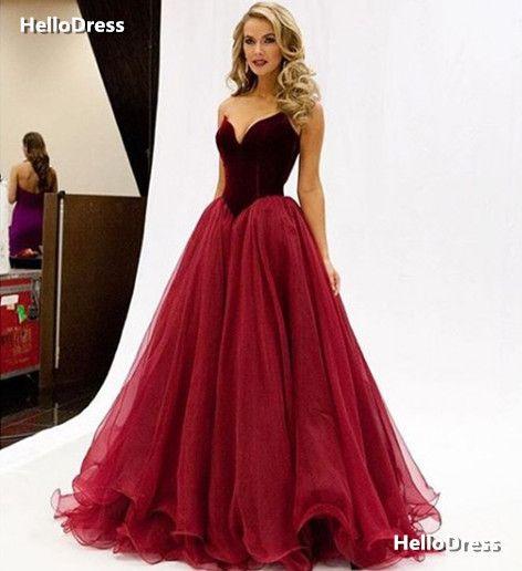 USA Miss Burgundy Basque Waist Velvet Bodice and Tulle Skirt Long Dress Evening Dress Party Dress Prom Gown Formal Occasion Dress on Storenvy