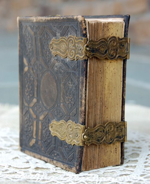 pixiedustparcels:    Antique book/Album (for calling cards) with antique hardware brass clasps. Wow.