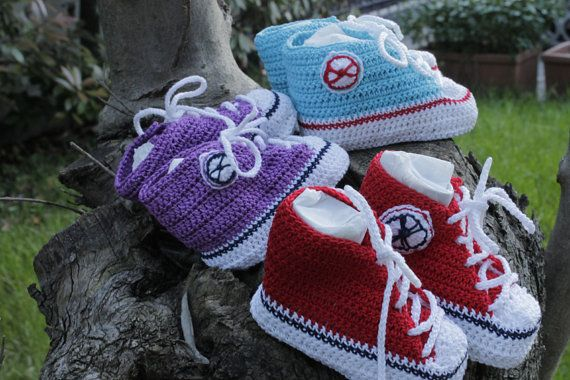 Scarpe rosse da tennis snikers  trainer, per neonato bimbo, modello Star, cotone , fatte a mano, idee regalo, on Etsy, 23,00€