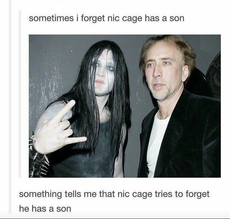 nic cage son