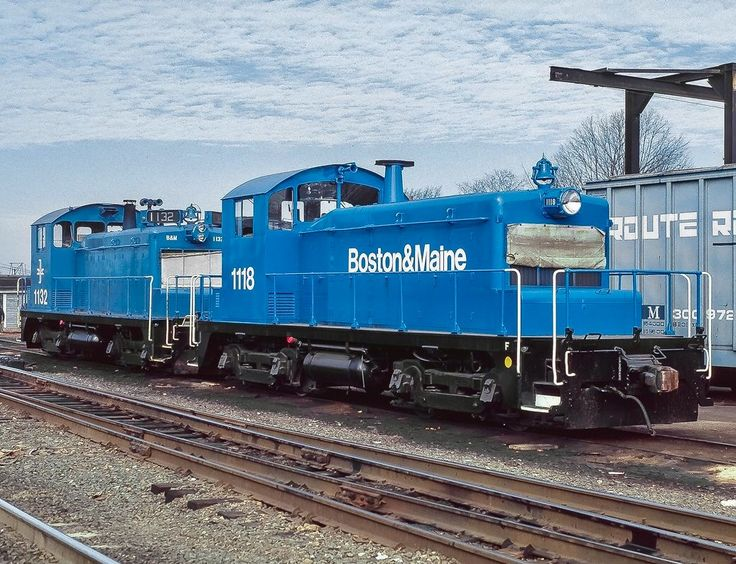 Boston & Maine Railroad, EMD SW1 diesel-electric switcher locomotive in Lowell, Massachusetts, USA