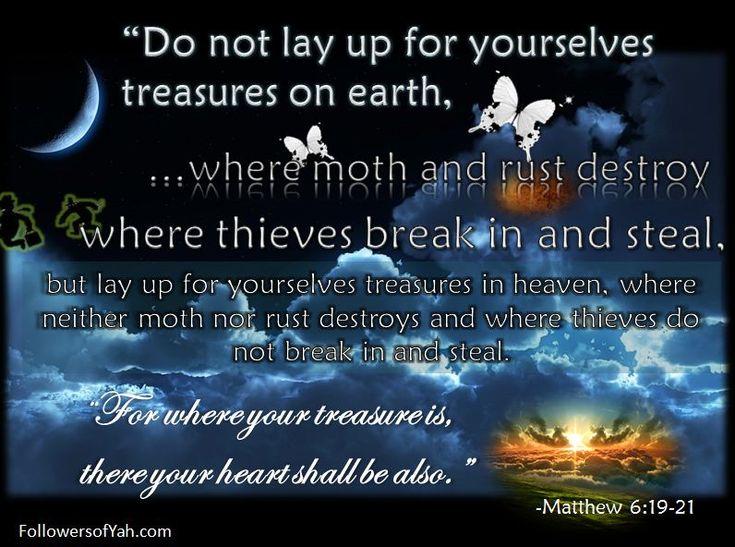Matthew 6:19-21 - Google Search