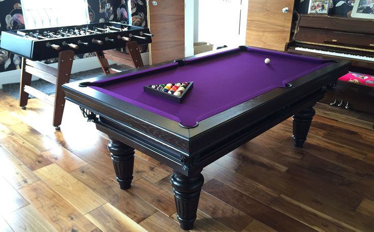 6u0027 English Traditional Pool Table, With Oak Colour #4, Purple Hainsworth  Smart Cloth, Leg #7, Top Frame #4 And Bottom Frame #5. Found On Www.Luxuryu2026