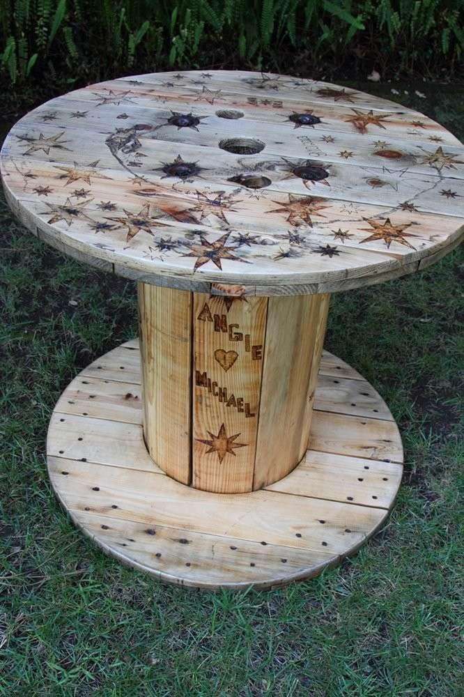 Preferenza Oltre 25 fantastiche idee su Bobine di legno su Pinterest | Tavolo  FO46