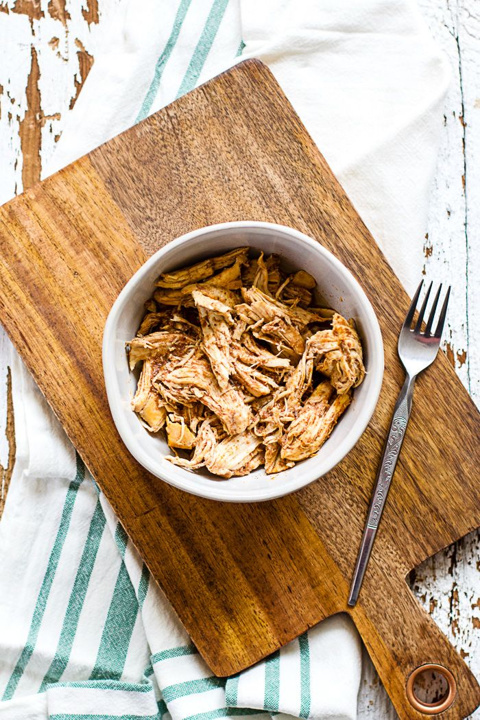 Slow cooker Spanish pulled chicken is a simple recipe with classic smoky Spanish flavors. Use it throughout the week for healthy sandwiches or combined with pretty much anything to get your barbecue flavor fix! ~Chicken, garlic, red wine vinegar, smoked paprika, freshly ground black pepper~ Okay guys, quick question: slow cooker or Instant Pot? To …