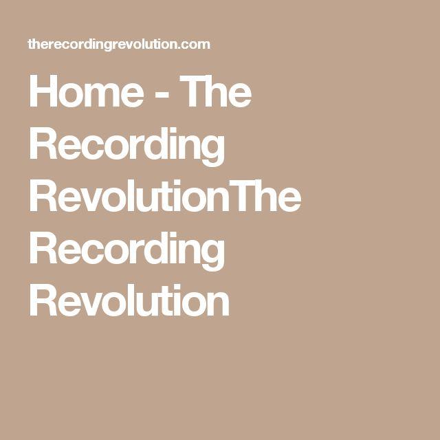 Home - The Recording RevolutionThe Recording Revolution
