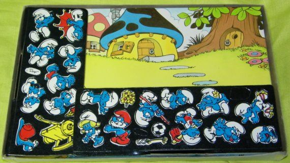 Vintage SMURF Colorforms Play Set by minikintoyparade on Etsy
