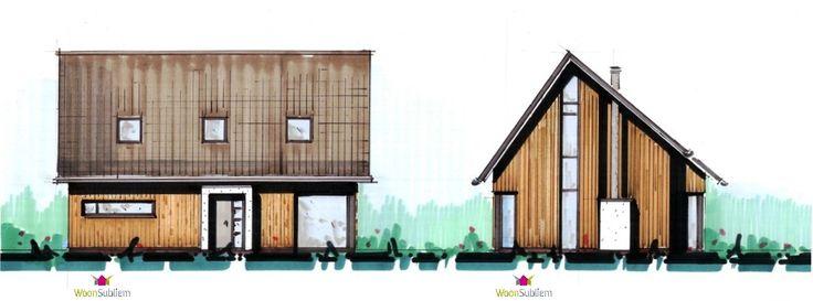 Schuurwoning houten huis bouwen woonsubliem modern villas pinterest modern for Modern huis binnenhuisarchitectuur villas