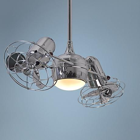 Bring air circulation to the perfect, refreshing breeze with this lighted dual ceiling fan from Matthews.