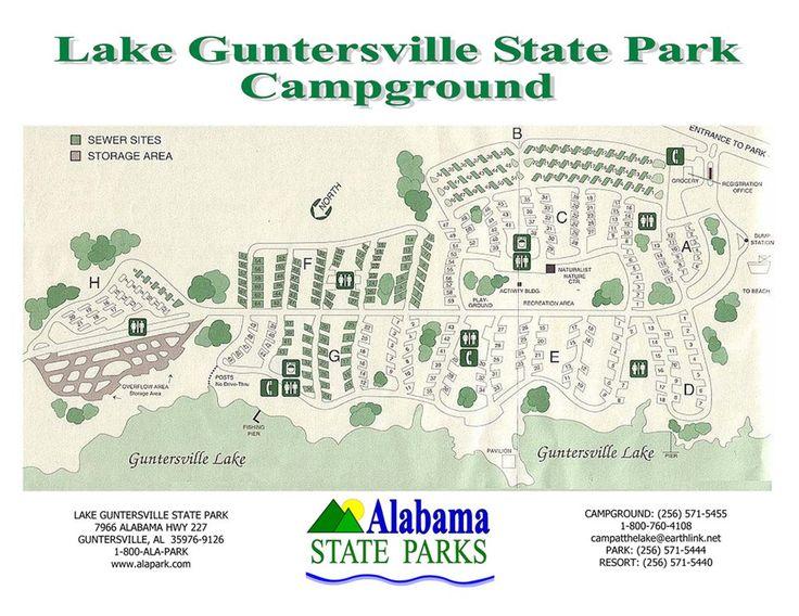 Lake guntersville state park campground map google for Lake guntersville fishing hot spots