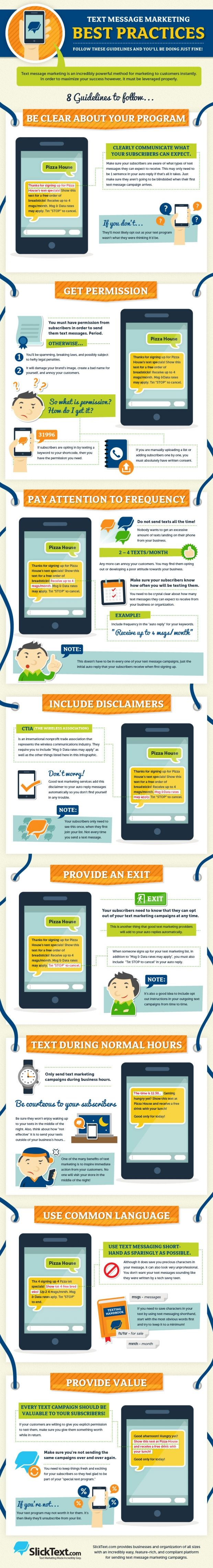 Text Message Marketing Best Practices [Infographic, Mobile Marketing, SMS] #NerdMentor