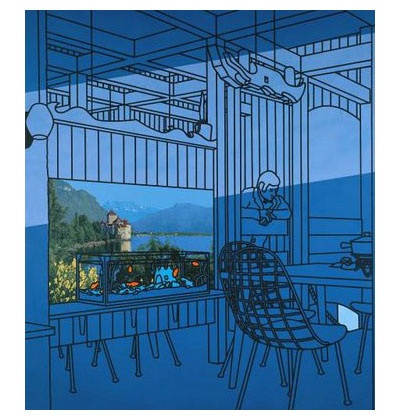 After lunch: Patrick Caulfield