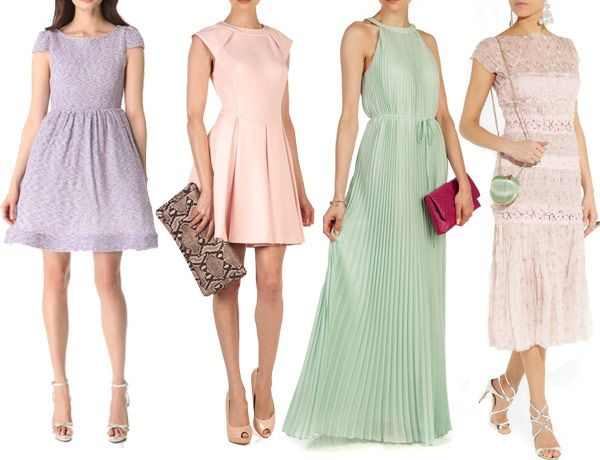 Guest-Fashion---Pastel-1 - Read More on One Fab Day http://onefabday.com/pastel-wedding-guest-dresses-2013/