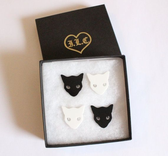 Cat Jewelry // Mix'n'match Kitty Collar Tips Set // by ILoveCrafty