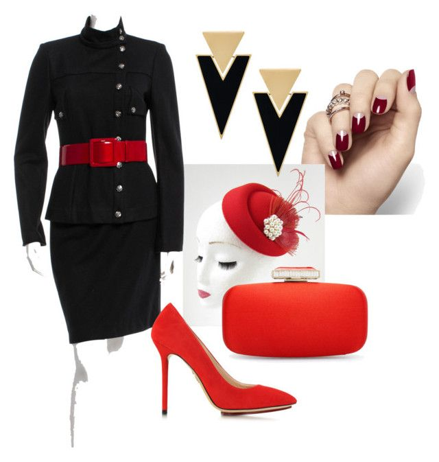 """Contemporary Business Diane"" by xicanti on Polyvore featuring Chanel, Charlotte Olympia, Yves Saint Laurent, Oscar de la Renta, contemporary and vintage"