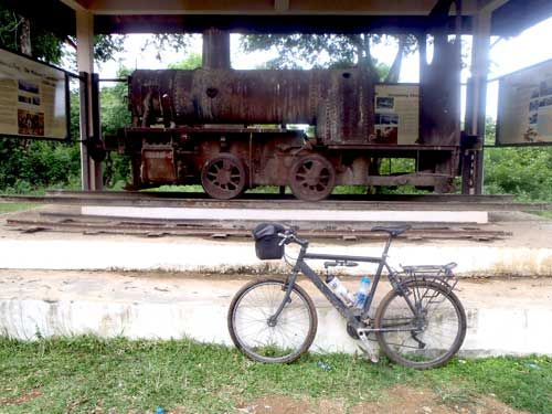 The only train in Laos at Khone Island.